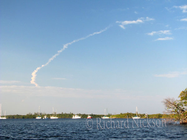 final launch of Space Shuttle Discovery from Peck Lake